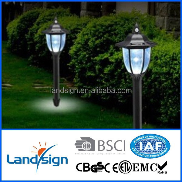 china manufacturer led path light outdoot lighting solar power garden stake lamp