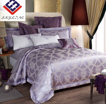 Luxurious polycotton jacquard wedding comforter bedding sets for hot selling
