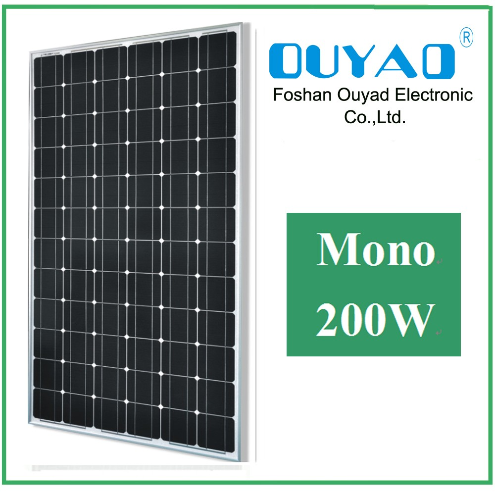 High end quality solar system thick aluminum frame 200W poly solar panel