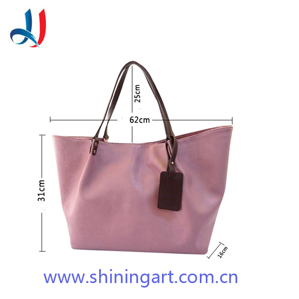 2017 hot selling Simple design pink PU leather women tote bag top branded pink elegance designer PU leather lady handbag