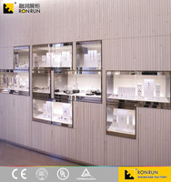 RJP0206 Modern Wall Display Unit Showcase Jewelry Store Design