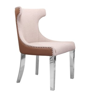 French fabric vintage classic hotel lobby chair furniture with stainless steel chair legs