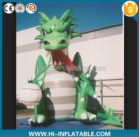 Giant Green Inflatable Dinosaur/ Inflatable Advertising Cartoon for Promotion Activities