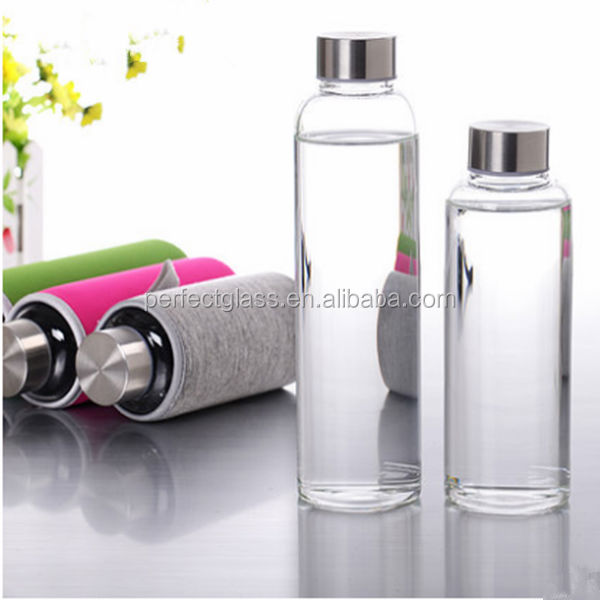18oz big glass water bottle