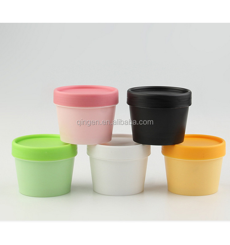 Colored plastic protein powder container/small plastic container