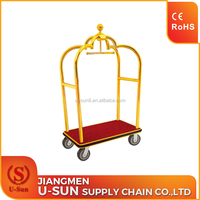 Hot sale hotel luggage trolley, concierge cart adjustable hand luggage trolley,hand luggage trolley for hotel