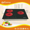 Southeast Asia Market Kitchen Appliances Touch Control 3 Infrared Ceramic Hob With Timer