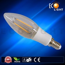 2015 LED Candle filament lamp 2w 4w 6w
