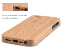 Natural solid bamboo wood cellphone case cover for iphone5,5s,6