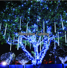 outdoor waterproof led meteor shower rain tube christmas light tree decoration
