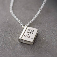 Hot Sale Once Upon A Time Pendant Necklace Story Book Pendant Necklace New Fashion Letters necklace