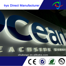 high brightness custom shops logo lighting for advertising 3d led sign board