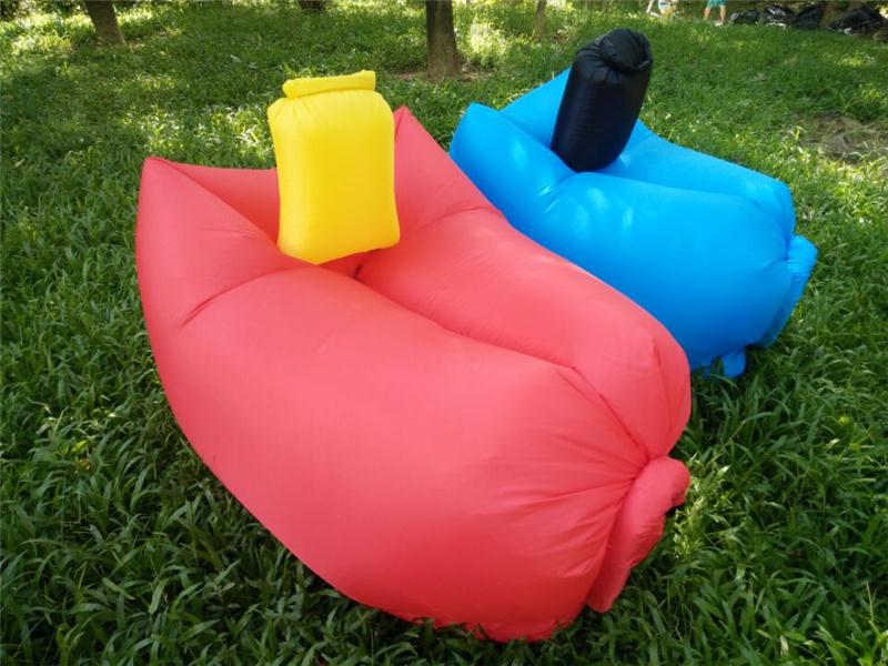 Factory Wholesale 3 season type and air filling inflatable sleeping bag