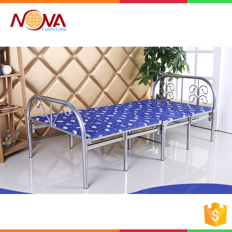 Manufacturer Supply Simple design Wrought Iron Folding Bed