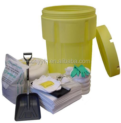 25L ,90L,120L,240L absorbent Wheeled Oil Spill Kit