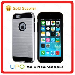 [UPO] New Arrival Armor Metal Brush Tpu Case For Iphone 6 Shockproof Cover Case