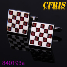 Personalized Square Crystal Cufflink For Wedding