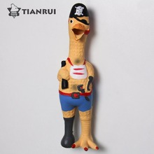 Latex style pirate Chicken style dog toy pet squeaky toy