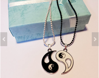 popular couple's YinYang necklace for lovers,friends