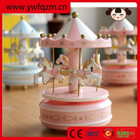 Wholesale wooden round Roating music box