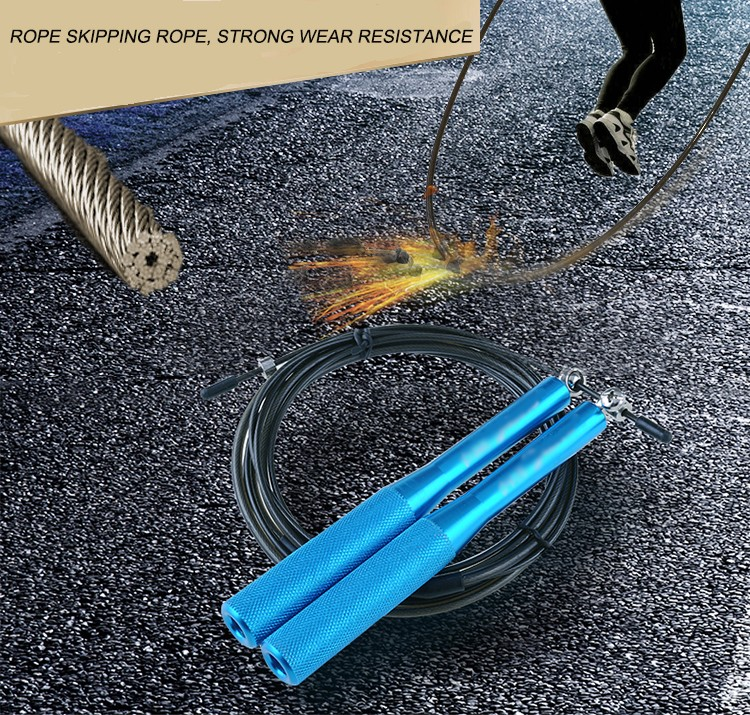 high quality crossfit speed steel wire jump rope for wholesale