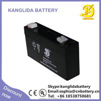 6v1.3ah sealed lead acid rechargeable storage battery