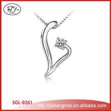 925 sterling silver necklace female fashion v zircon pendant Yiwu factory outlets