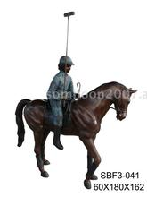 Polo Man On Horse (Bronze Sculpture & Bronze Statue)