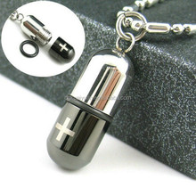 Wholesale fashion stainless steel glass bottle necklace pendant
