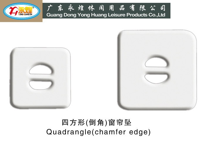 Square lead weight with hole