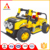 Good quality plastic building bricks electric kid jeep toy car