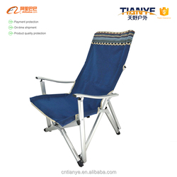 Tianye Portable Folding Camping fishing beach Chair luxurious relax aluminum chair