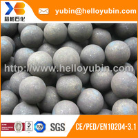 Custom forged machined grinding solid steel ball with EN10204 3.1 certificate