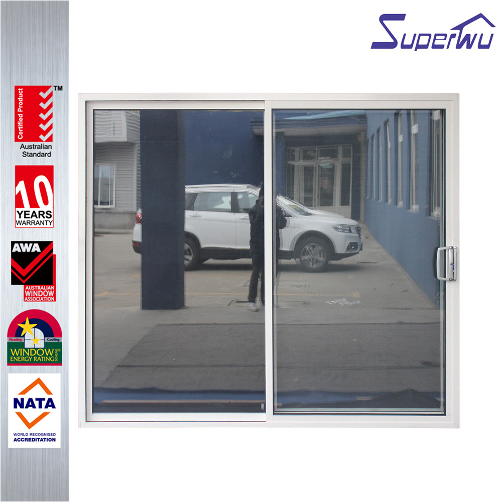AS2047 and AS2208 powder coated Aluminium frosted frameless glass sliding doors company prices