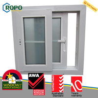 Office Interior PVC Sliding Glass Window Grill Design