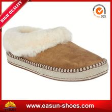 Cheap factory price OEM fur lined moccasin slippers safety sole casual shoe dinosaur house shoes