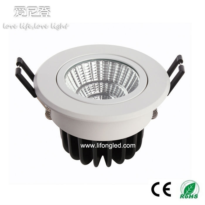 Factory need distributor! high lumen cob led spotlight ceiling light 7w with 68mm cut out