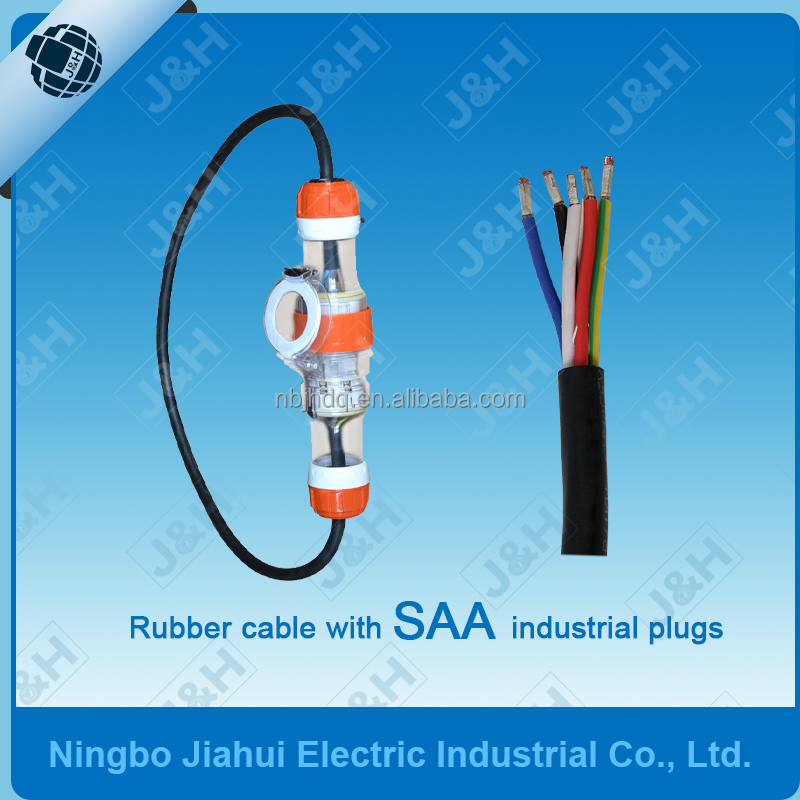 PVC Australia Extension Lead With 56 Series Plugs AS/NZS Plug and Socket Pure Copper Rubber Wire
