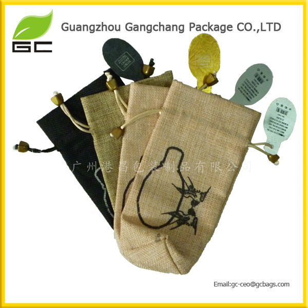 Cheap Fashion Eco-friendly Recycled Jute Jewelry Pouch Jute Bag Wholesale