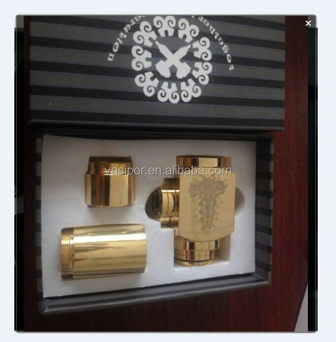 New Design With factory Price E-Cigarette Mechnical mod gold Hammer Mod