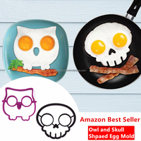Best Selling Products Non-stick Kitchen Tools Silicone Egg Mould, Skull Eggs Fried Frying Pancake Molds