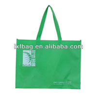 2013 new printable green spun shopping bag