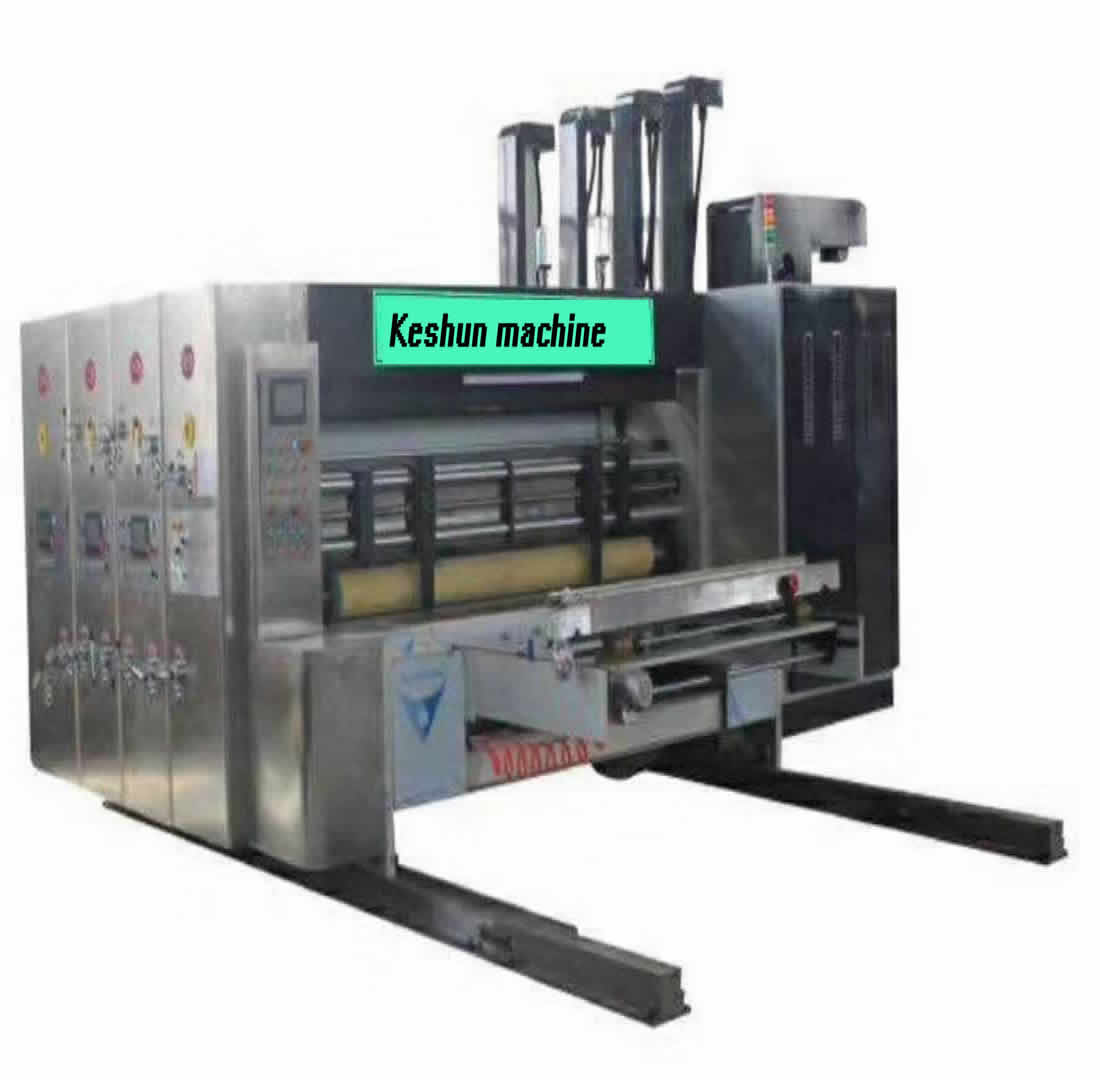 Keshun full automatic high speed printing slotter rotary die cutter stacker machine/corugated carton box flexo printingmachine