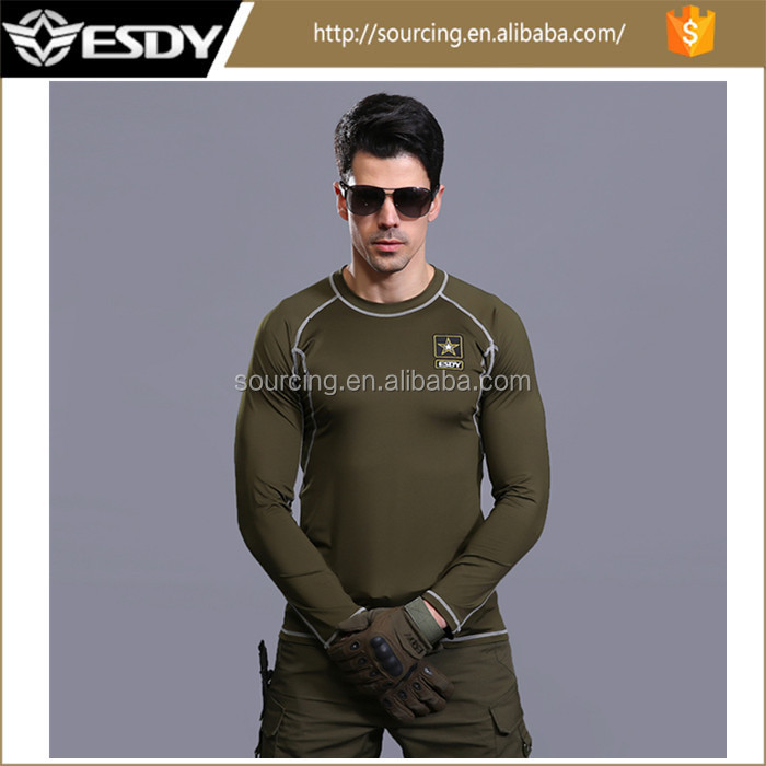 4 Colors ESDY tactical training long sleeved outdoor thermal underwear