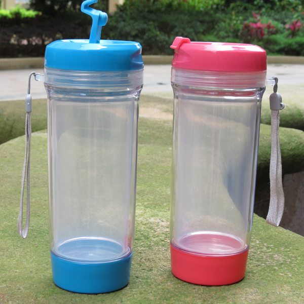 BPA FREE Double Layer plastic tumbler cup