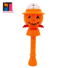 kids rotation effect flashing toys pumpkin design custom led light stick for halloween