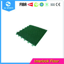 interlocking flooring of outdoor sport plastic flooring tiles for basketball court flooring