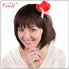 red fashion cheap mini top hat with clip sale for girls