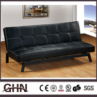 Top sale all black high grade quality one person sofa bed furniture
