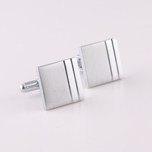 Custom brass blank cuff link for men